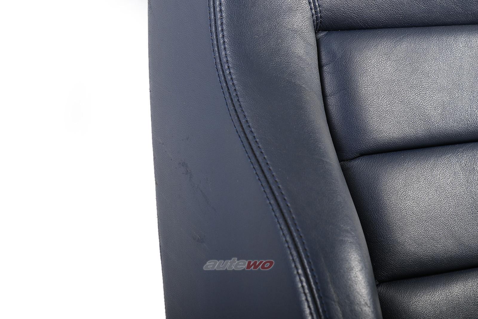 Audi A6 4B Beifahrersitz mit elektrischer Verstellung & Sitzheizung Leder blau