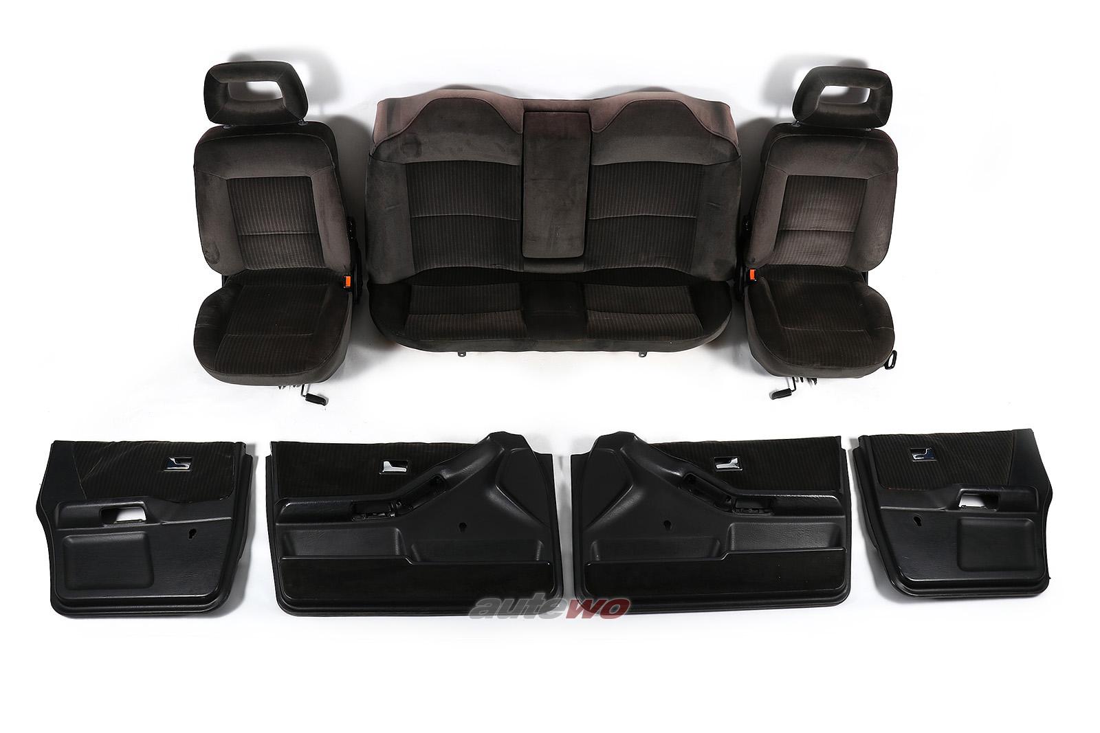 Audi 80/90 Typ 89 Innenausstattung Sitze/Rücksitzbank/Türverkleidungen braun