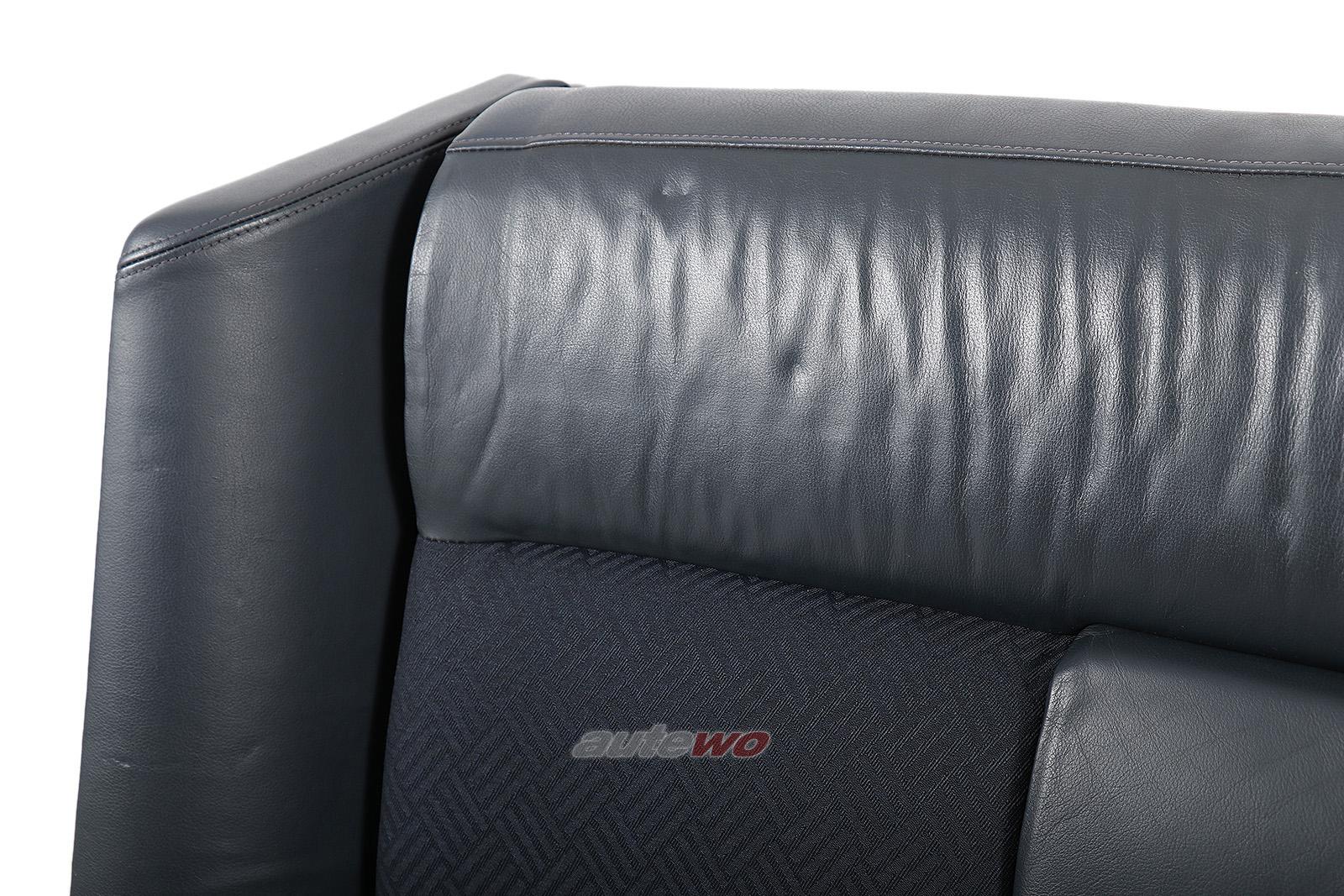 Audi 80 Cabrio Typ 89 Rücksitzbank Stoff-/Leder-Kombination dunkelblau
