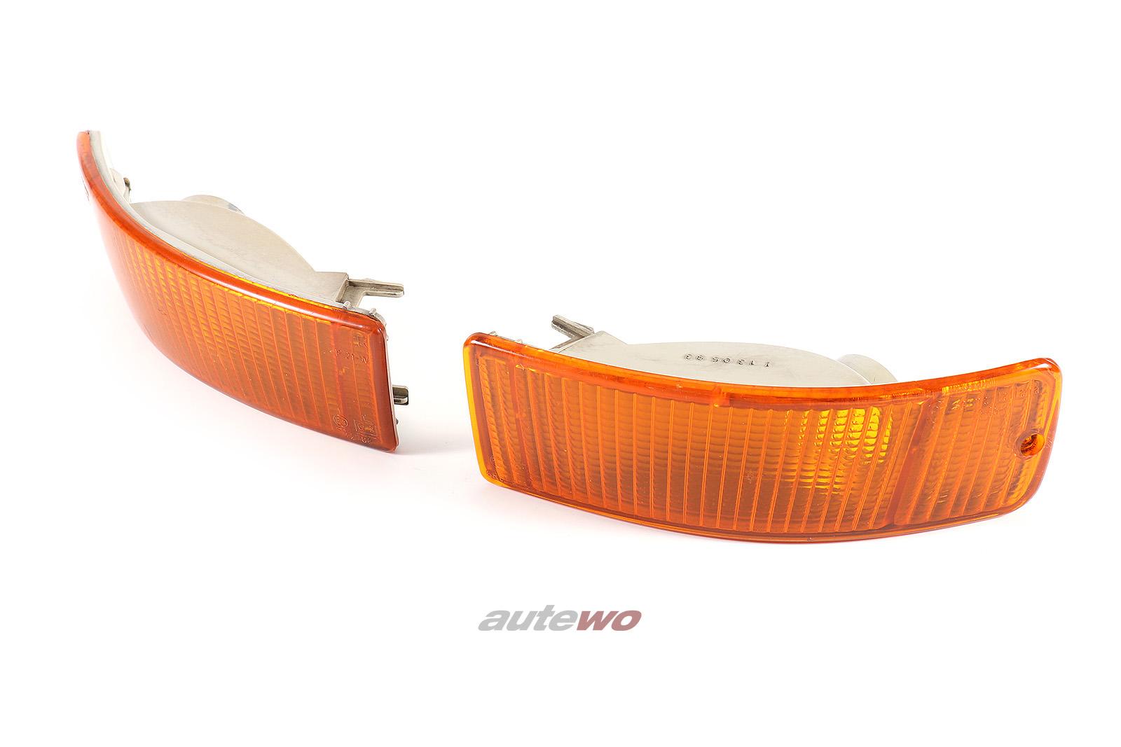 8A0953049A/8A0953050A Audi 80 B4/Coupe/Cabrio Typ 89/S2 Blinker Paar orange