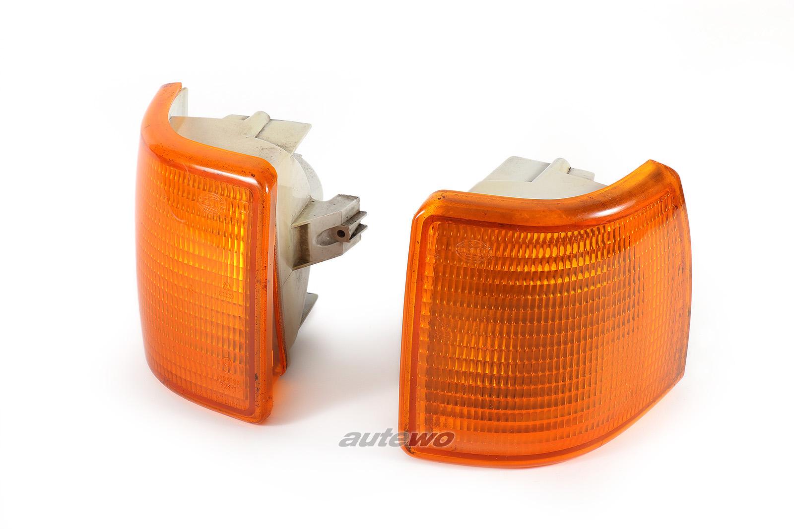 811953049D/811953050D Audi 80 Typ 81/85 Blinker Paar Hella Vorne orange