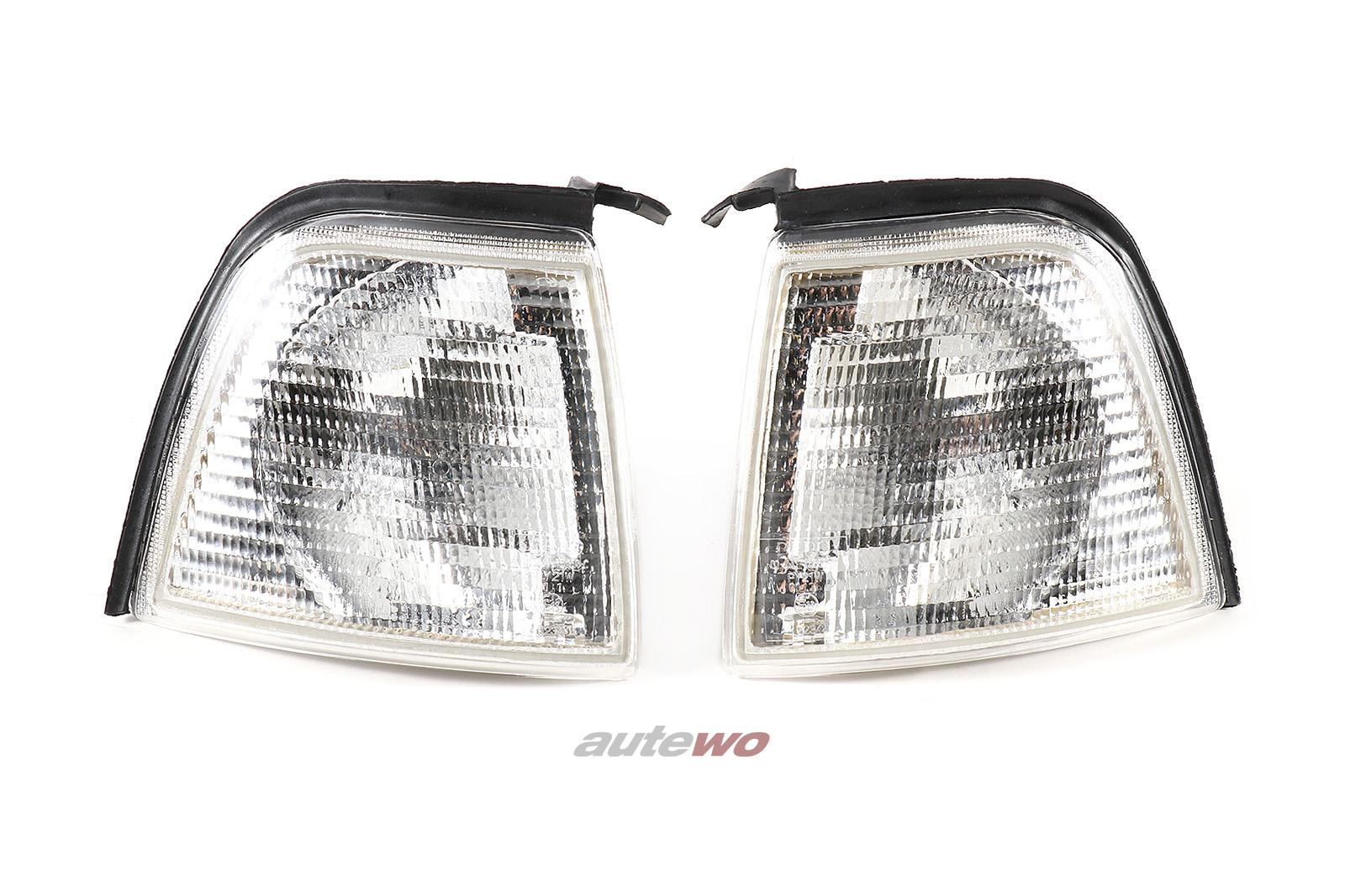 Blinker Paar Vorne weiß für Audi 80 Typ 89/B4 entspricht 8A0953049A/8A0953050A