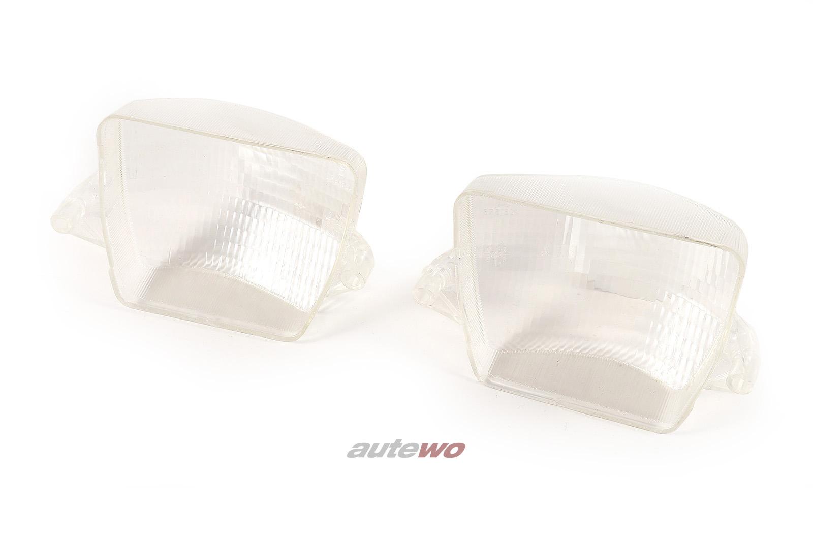 Blinker Paar Vorne weiß Ersatz für 855953157/855953158 Audi 80/Coupe Typ 81/85