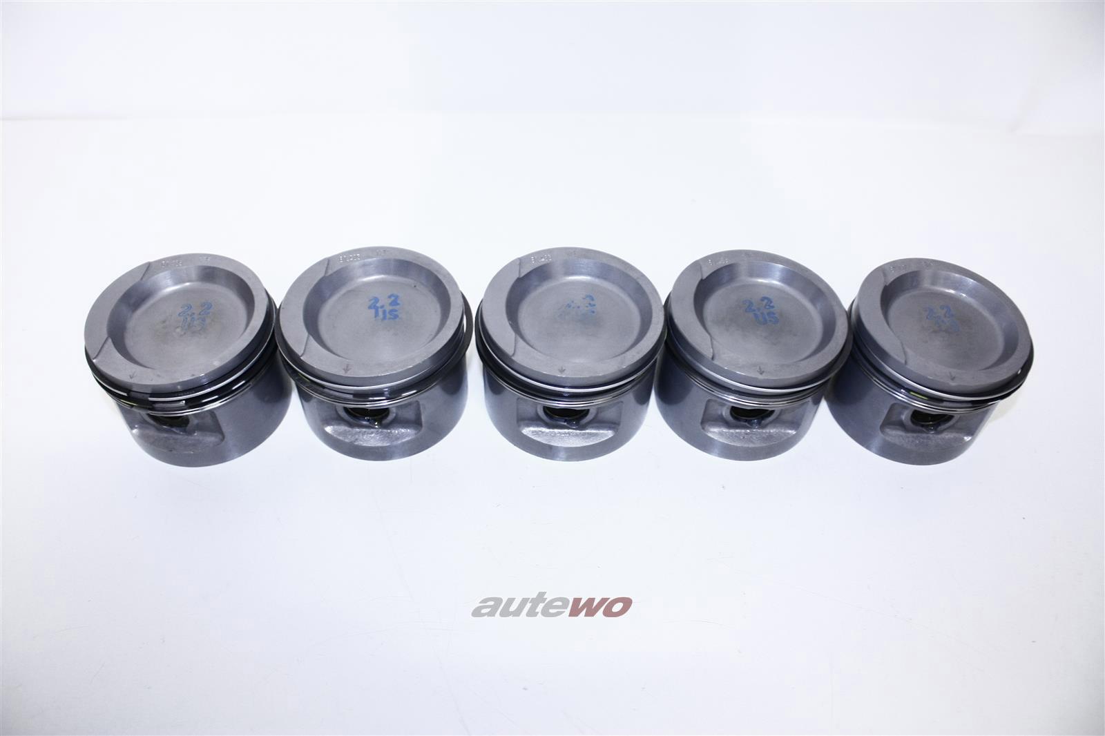 NEU! Audi/VW 90 81/85/100 Typ 44/Passat 2.2l 5 Zyl. Satz Kolben Übermaß 81,485 034107081D