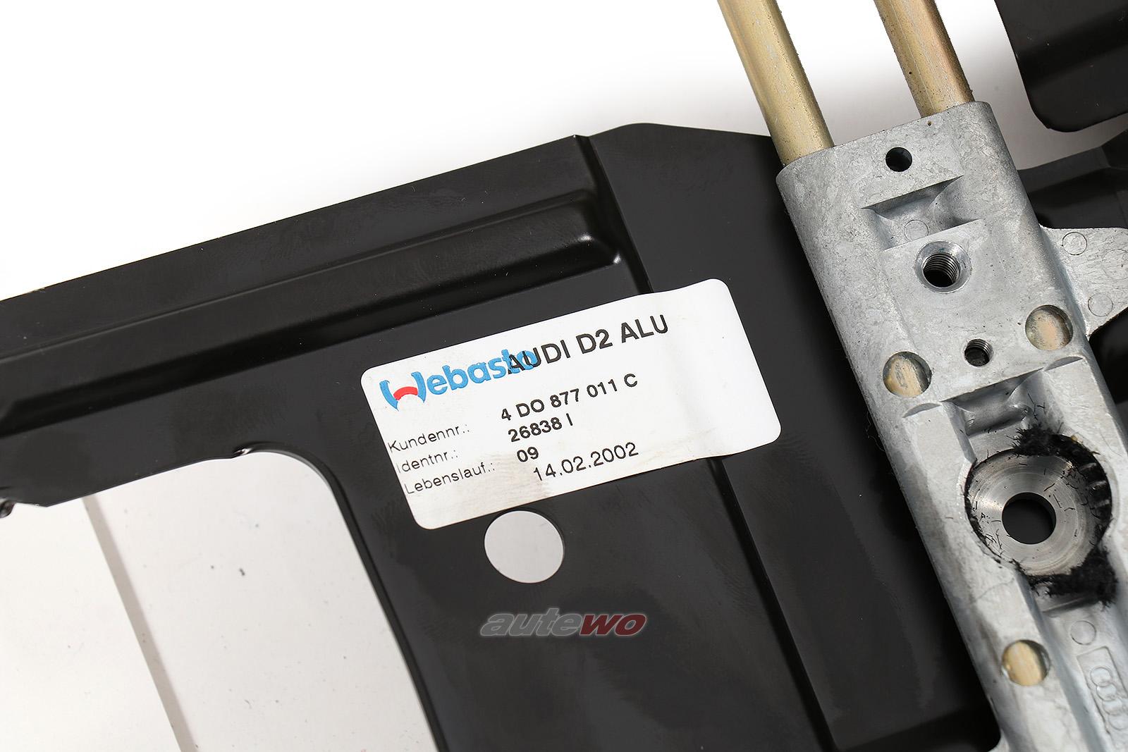 4D0877011C Audi A8/S8 D2 Alu-Schiebedach mit Kulissenführung