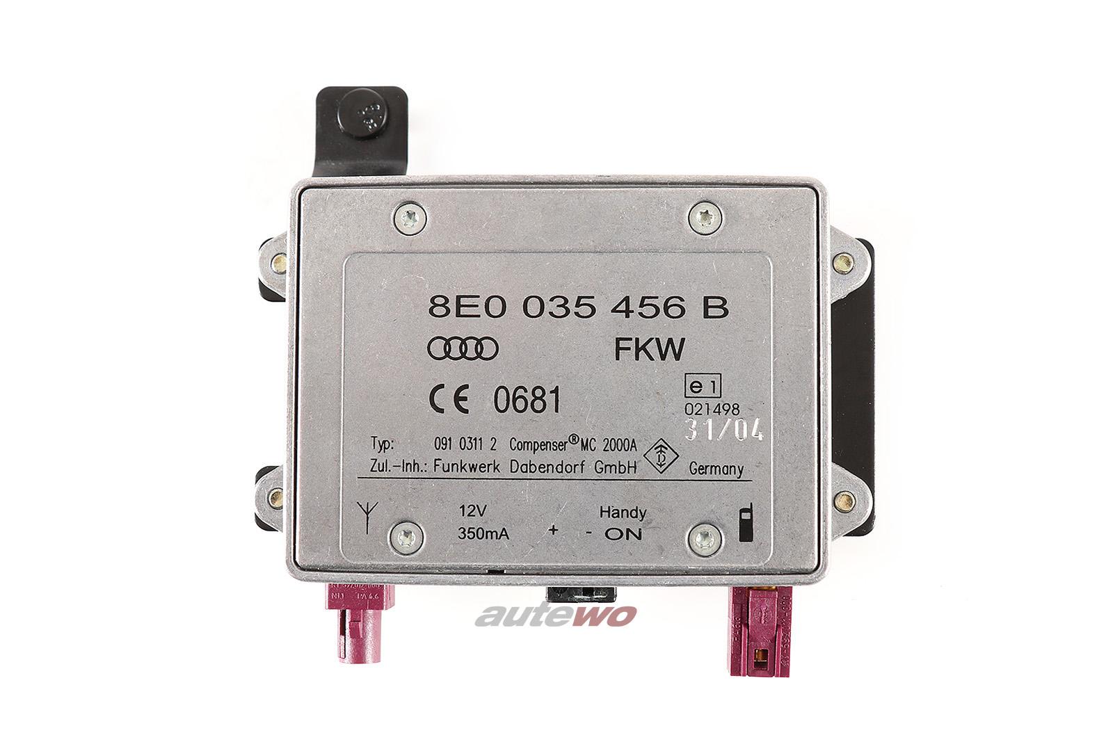 8E0035456B Audi A2/A3/S3/A4/S4 8E/Cabrio 8H/A6 4F/A8 D3 Antennen-Verstärker