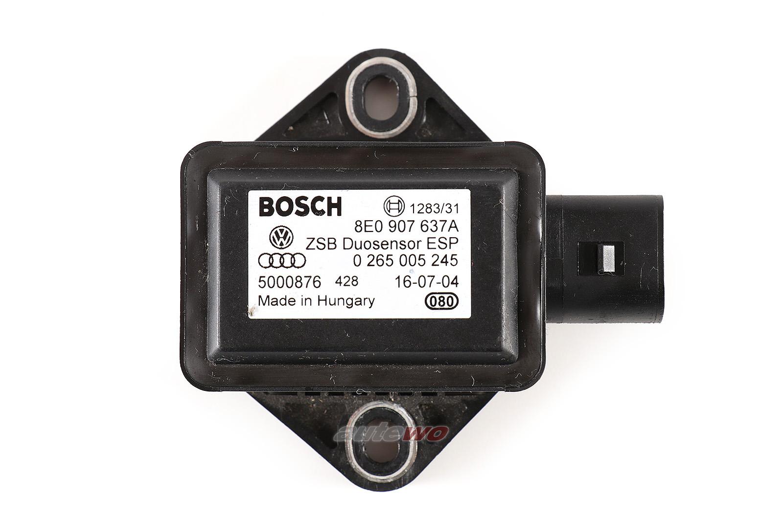 8E0907637A Audi A4/S4 8E/B6/B7/Cabrio 8H/A6 4F/A8 D3 Kombi-Sensor