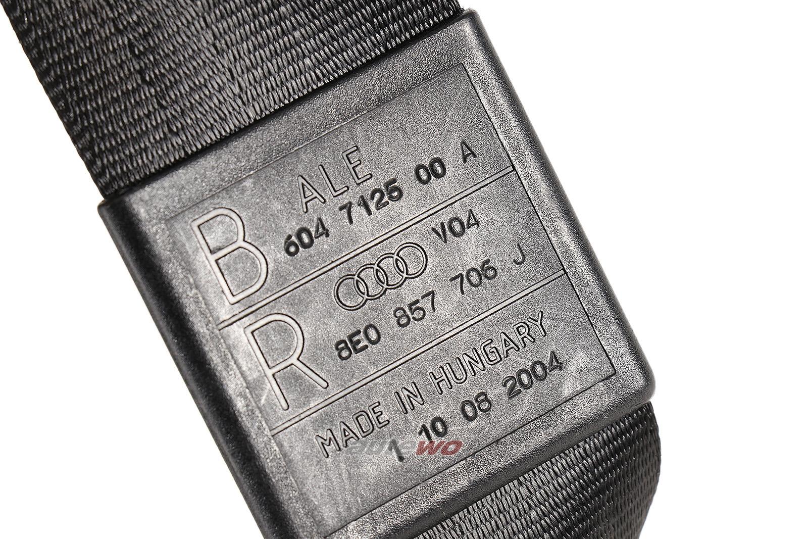 8E0857706J 8E0857706F Audi A4/S4/RS4 8E/B6/B7 Sicherheitsgurt Vorne Rechts