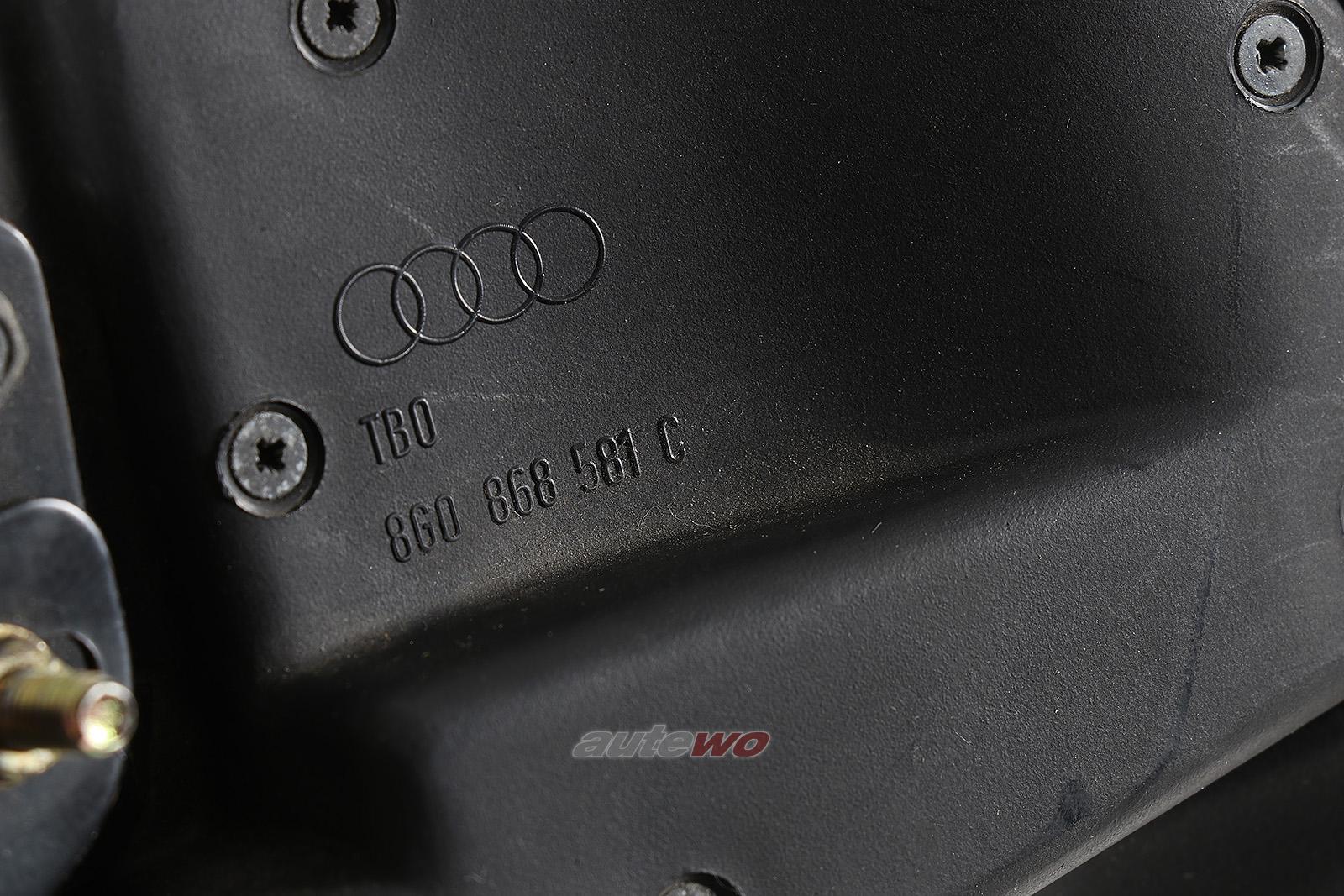 8G0868581C Audi 80 Typ 89 Cabriolet Verdeckkastenabdeckung Links schwarz