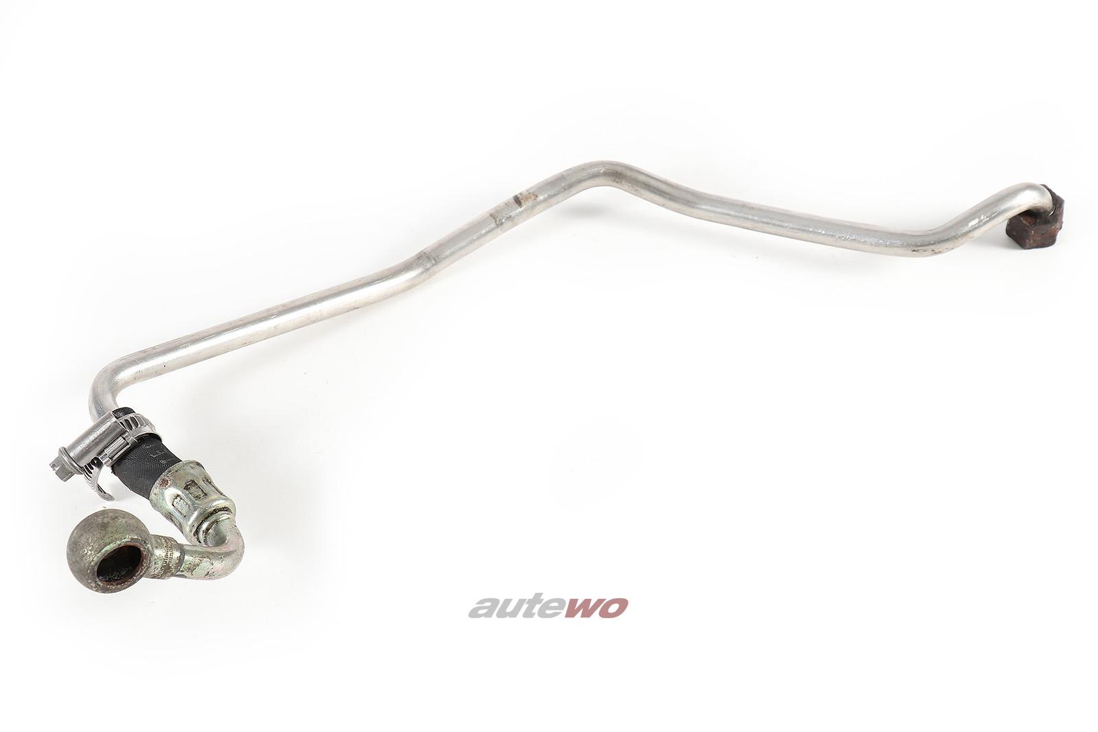 035121498C Audi 100/200 Typ 44/Urquattro 10V Kühlmittelrohr Rücklauf Turbo