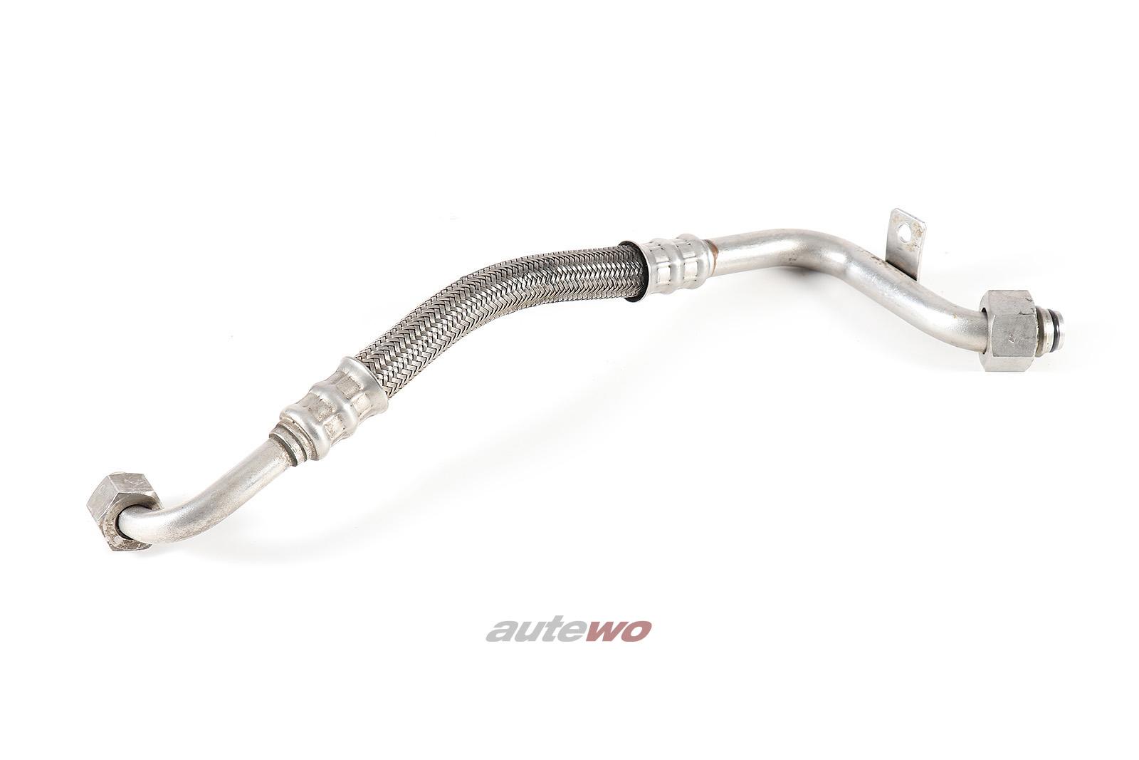 034117123J Audi S2 Coupe Typ 89 2.2l Motor-Ölkühler Ölrücklaufleitung