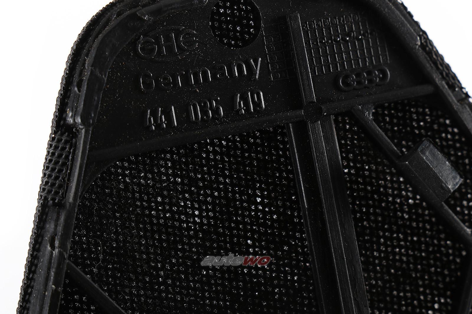 441035419 Audi 100/200 Typ 44/V8 D11 Lautsprecher Abdeckung Links