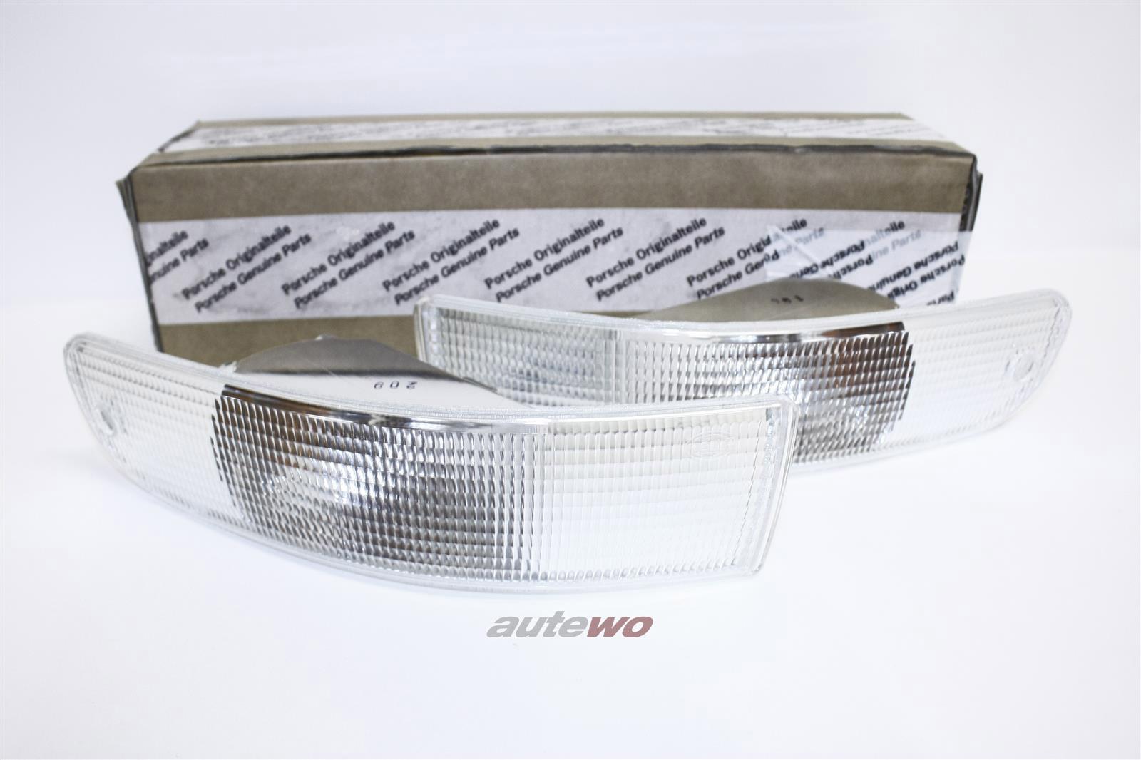 NEU! Audi RS2/ Cabrio/PORSCHE Orig. Blinker Paar Li. & Re. weiß 8A0953049D & 8A0