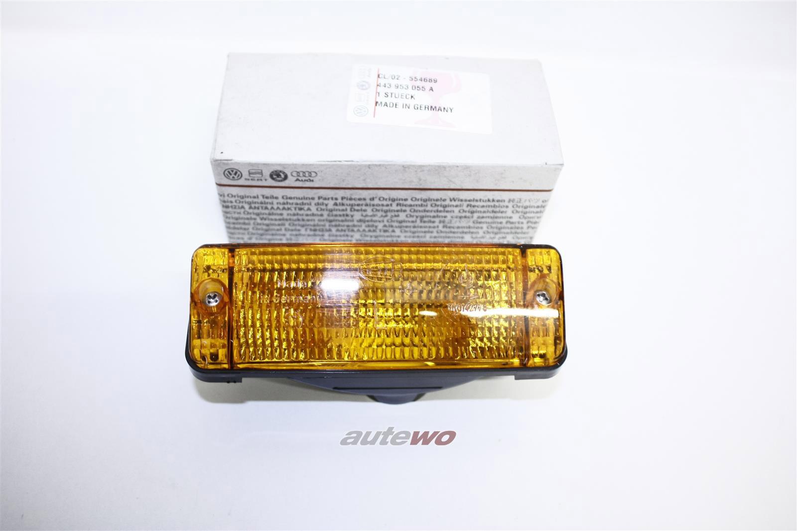 NEU! Audi 200 20V Typ 44 Orig. Blinker Vorne Li. orange 443953055A