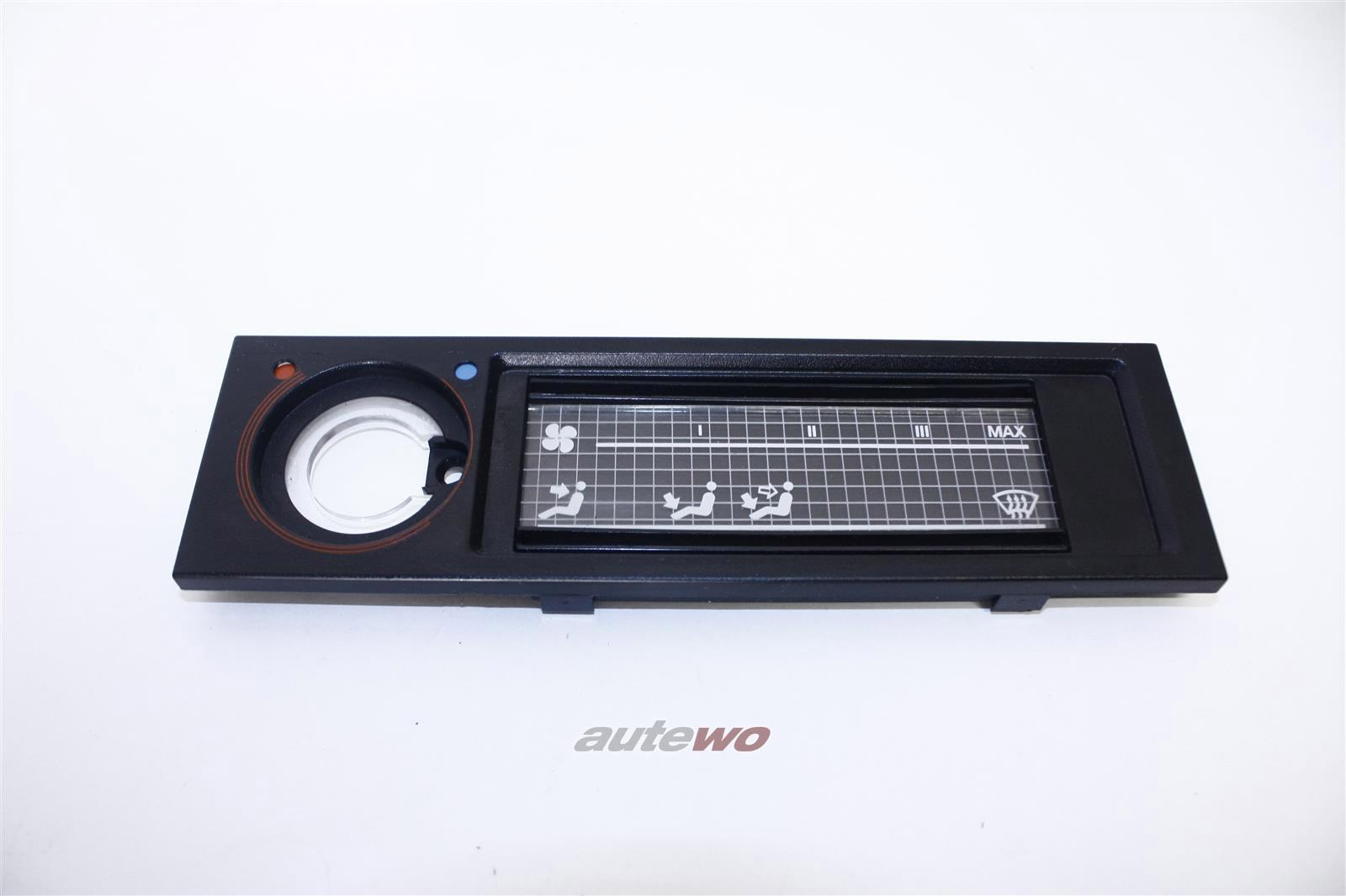 Audi 100 Typ 44 Blende Heizung Kunststoff schwarz 443819073B 443819075