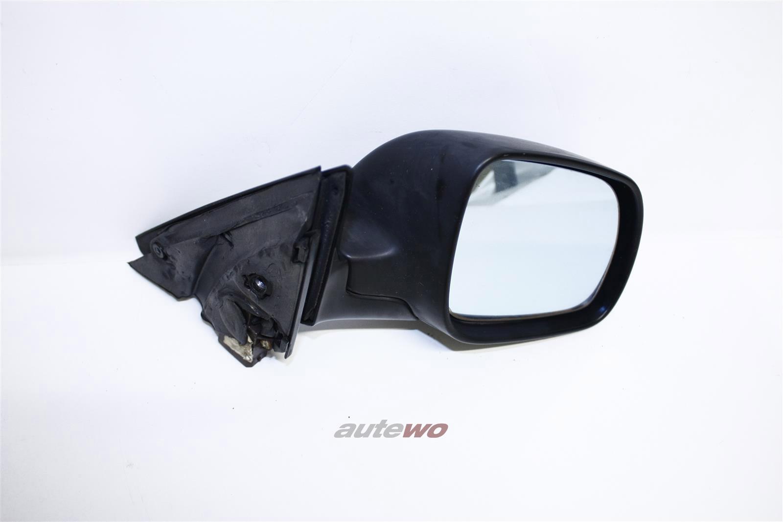 Audi 100/A6 C4 Außenspiegel elektr. verstellb. Rechts unlackiert schwarz 4A1858532