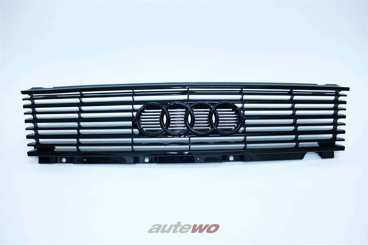Audi 100 Typ 44 Kühlergrill neu lackiert schwarz glänzend 443853655A
