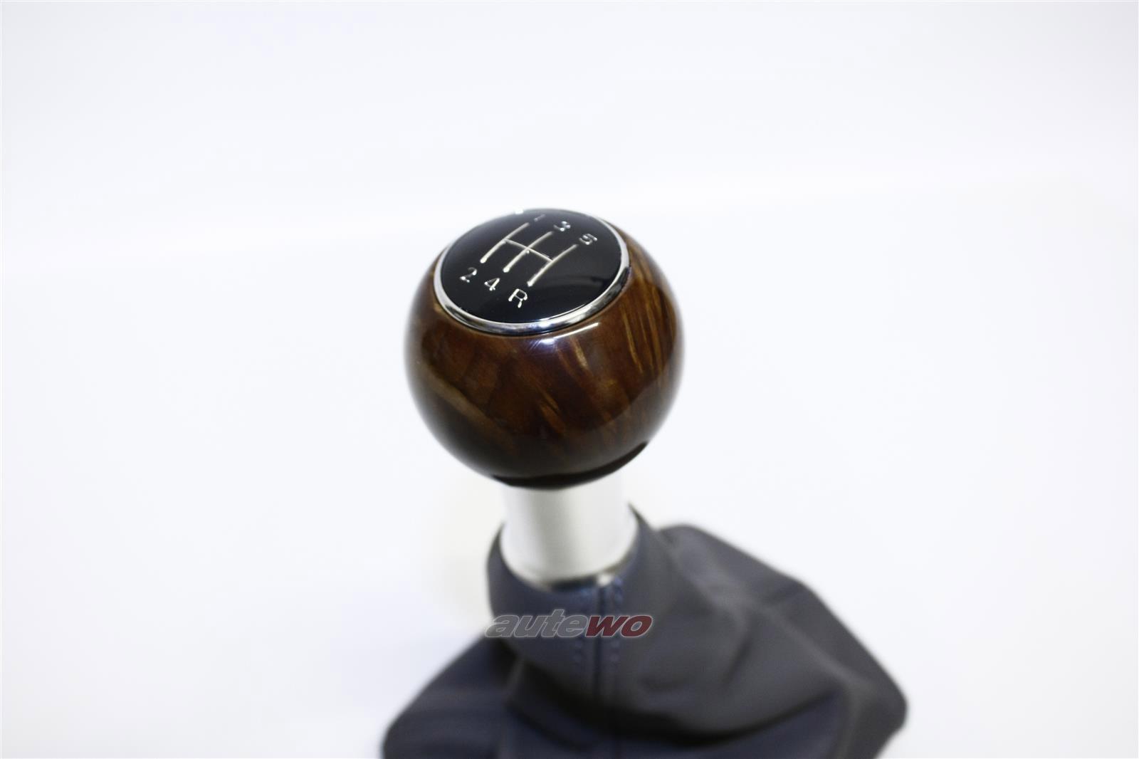 NEU&ORIGINAL Audi A4 8E/A4 8H Cabrio Schalthebelknopf  Holz/Leder dunkelgrau 8E0863278EC 8E0863278M