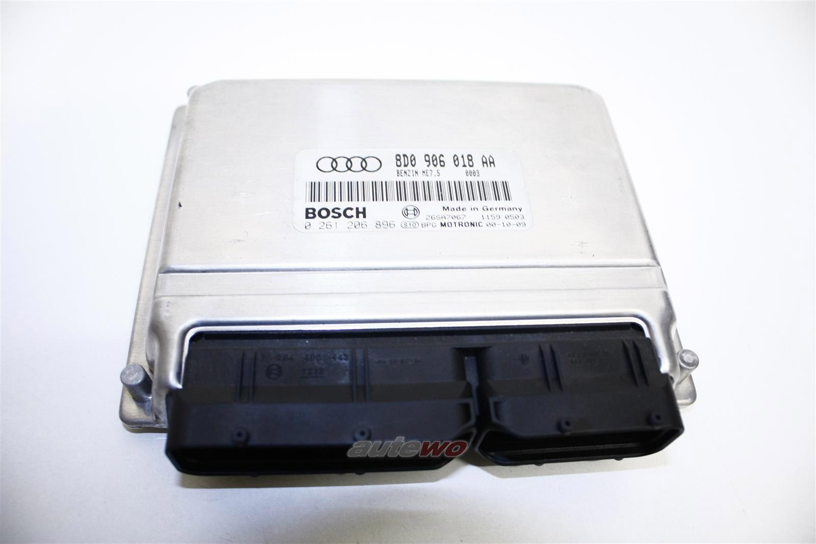 Audi A4 B5 1.8l 125PS 4 Zyl. AVV Motorsteuergerät 8D0997018LX 8D0906018AA