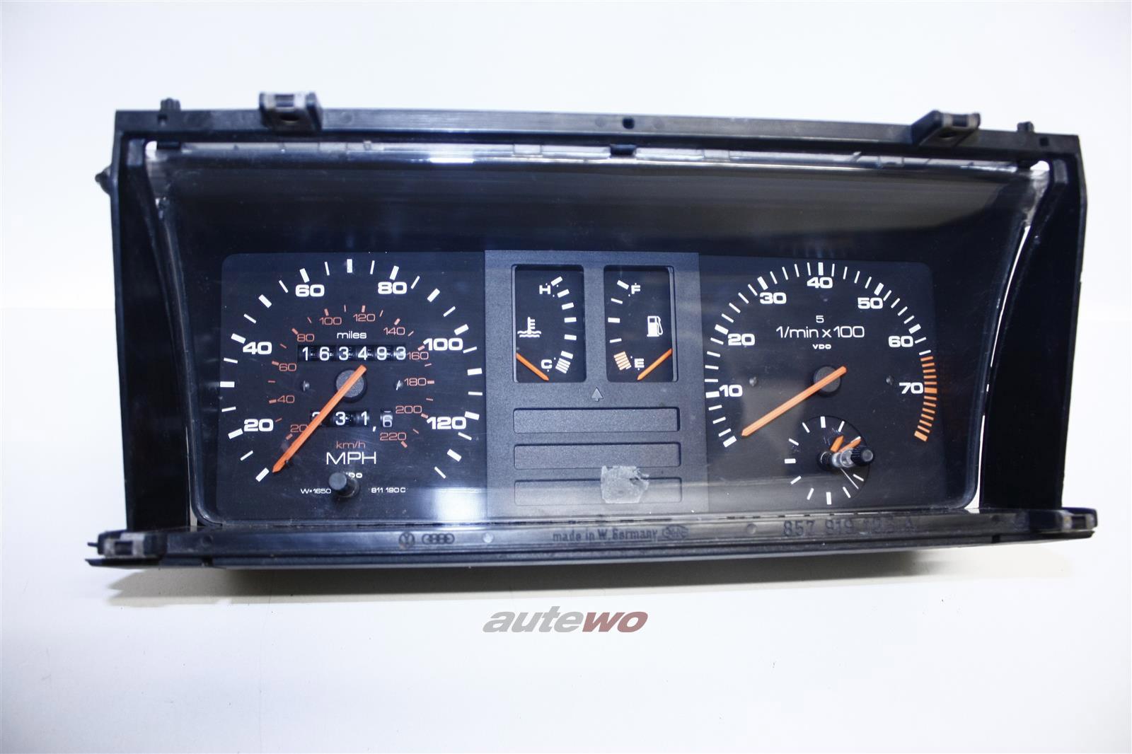 RHD Audi 90/Coupe Typ 81/85 5 Zylinder Kombiinstrument/Tacho Meilen W=1650 811190C