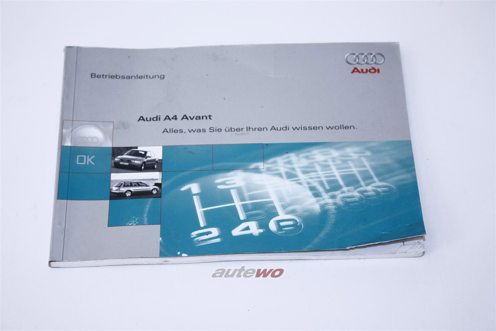 Audi A4 B5 Avant Betriebsanleitung Ausgabe 12/1995