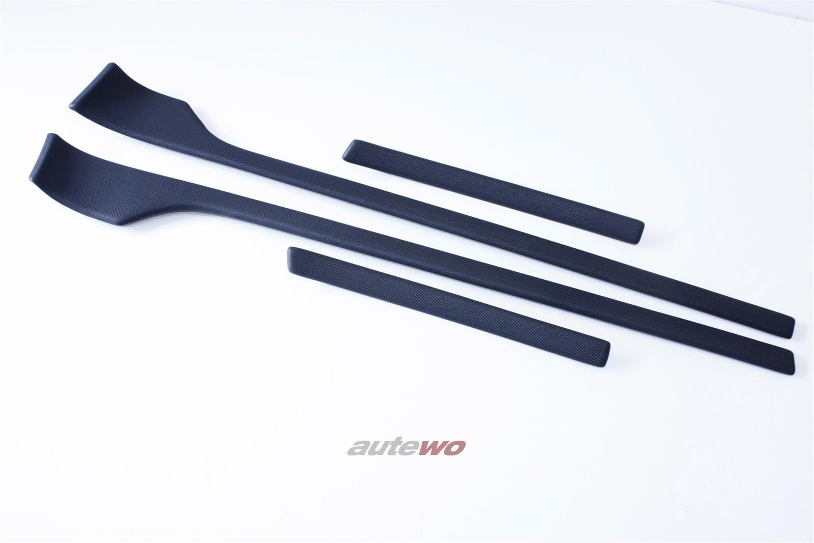 Audi 80 Cabrio Typ 89 Zierleisten Alu-Optik Vorne & Hinten Links & Rechts anthrazit