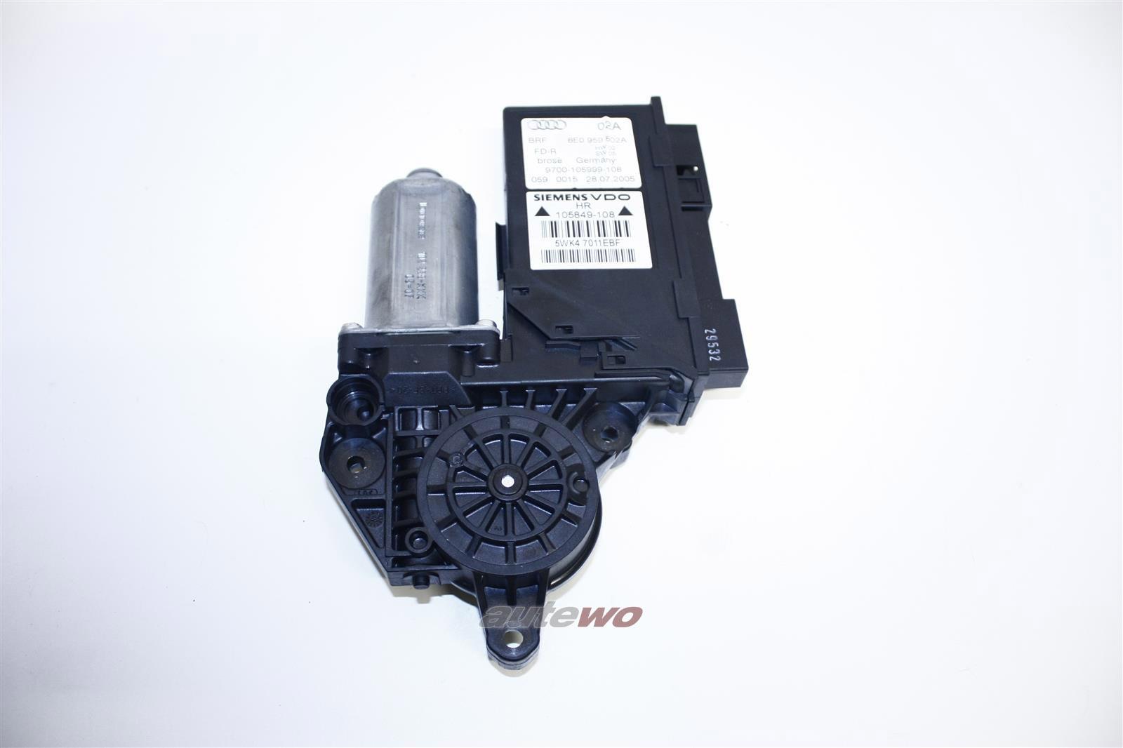 8E0959802E 8E0959802A Audi A4/S4/RS4 8E Fensterhebermotor/Türsteuergerät HR
