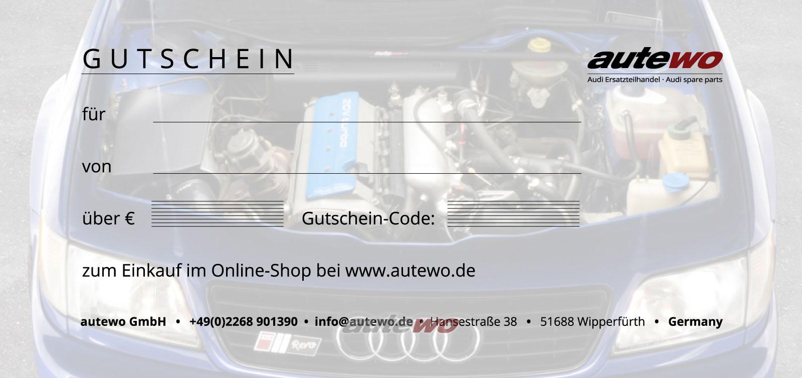 autewo-Geschenkgutschein 100 Euro Motiv S6 C4 -Emailversand zum Ausdruck-